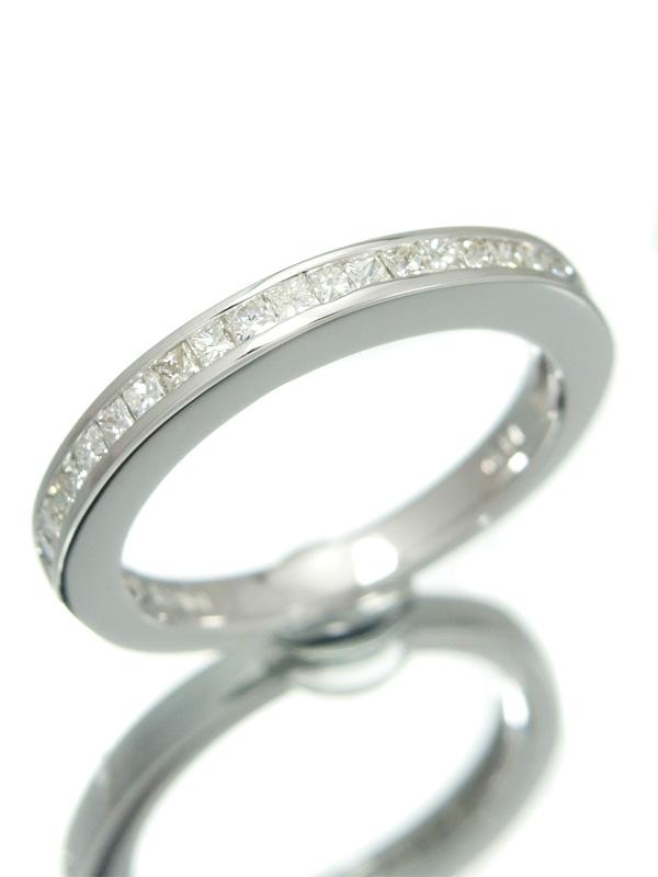 【仕上済】セレクトジュエリー『K18WGリング ダイヤモンド0.41ct ハーフエタニティ』10.5号 1週間保証【中古】b01j/h12SA