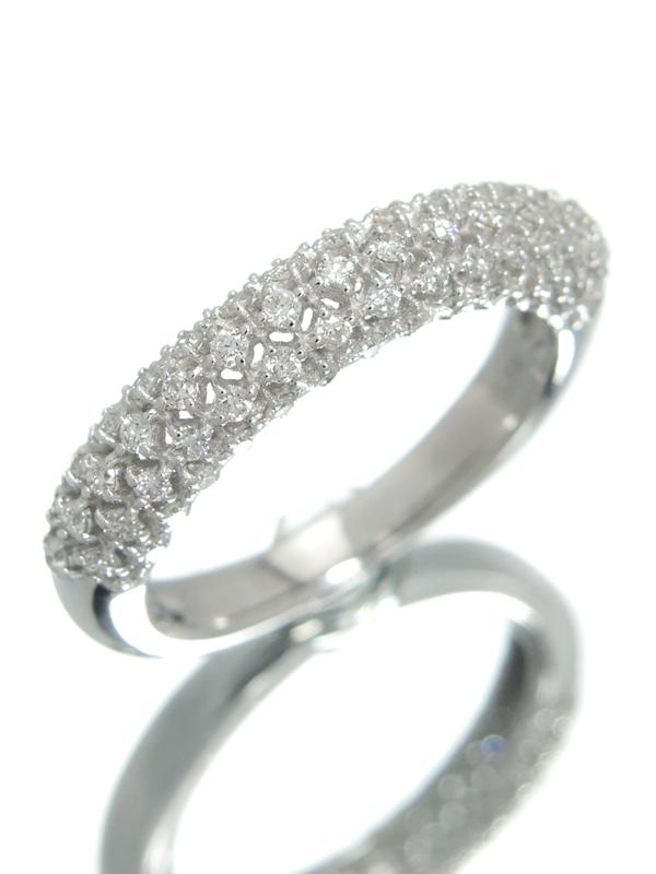 【仕上済】セレクトジュエリー『K18WGリング ダイヤモンド0.58ct』14号 1週間保証【中古】b01j/h02SA