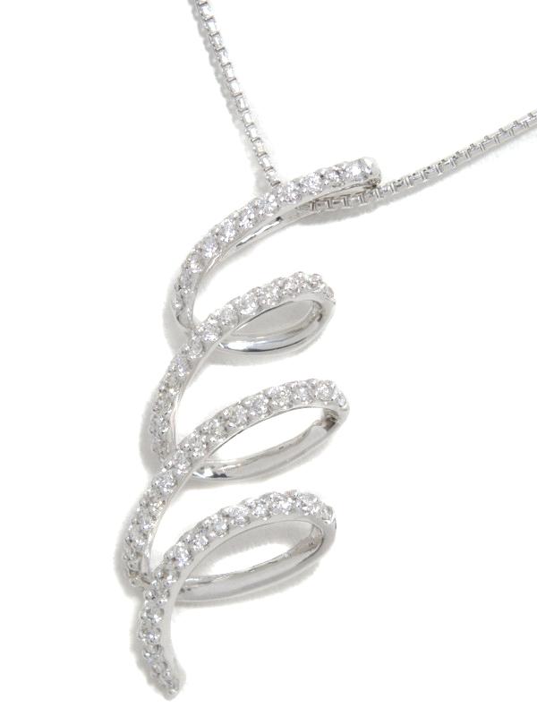 セレクトジュエリー『K18WGネックレス ダイヤモンド0.44ct』1週間保証【中古】b01j/h21A