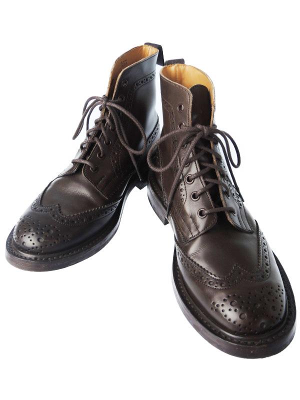 【Tricker's】【Malton】【モールトン】【英国製】トリッカーズ『カントリーブーツ size7 1/2』M2508 メンズ 1週間保証【中古】b03b/h20AB