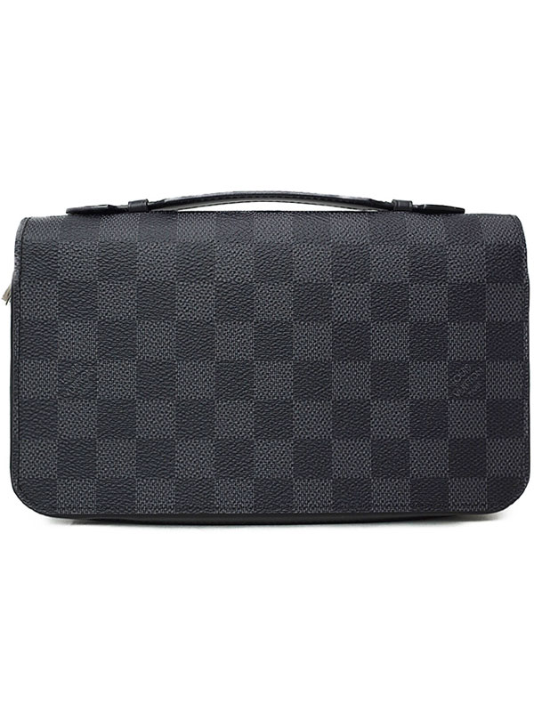 【LOUIS VUITTON】ルイヴィトン『ダミエ グラフィット ジッピーXL』N41503 メンズ ラウンドファスナー長財布 1週間保証【中古】b02b/h14A
