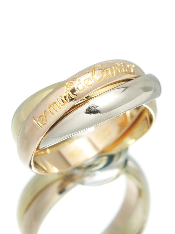 【Cartier】【スリーカラーゴールド】カルティエ『トリニティ リング』11号 1週間保証【中古】b06j/h12A