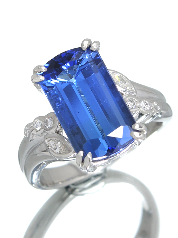 【ソーティング】セレクトジュエリー『PT900リング タンザナイト7.07ct ダイヤモンド0.20ct』16号 1週間保証【中古】b06j/h17A