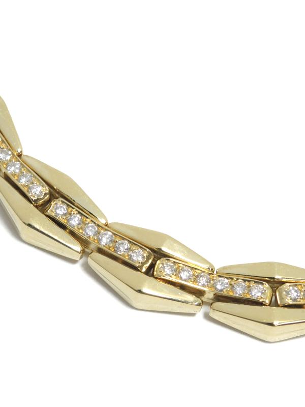 【CHIMENTO】キメント『K18YG/K18WGネックレス ダイヤモンド』1週間保証【中古】b02j/h13A