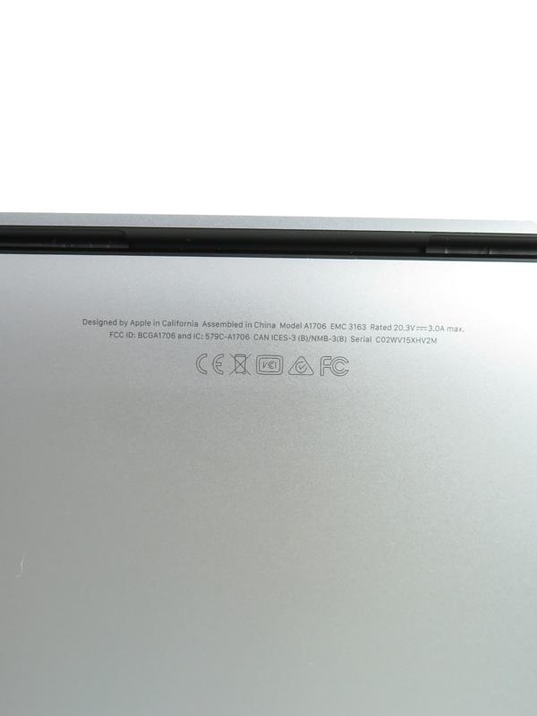 【Apple】アップル『MacBook Pro Retinaディスプレイ 3100/13 3』MPXW2J/A スペースグレイ Mid 2017  512GB HighSierra ノートPC