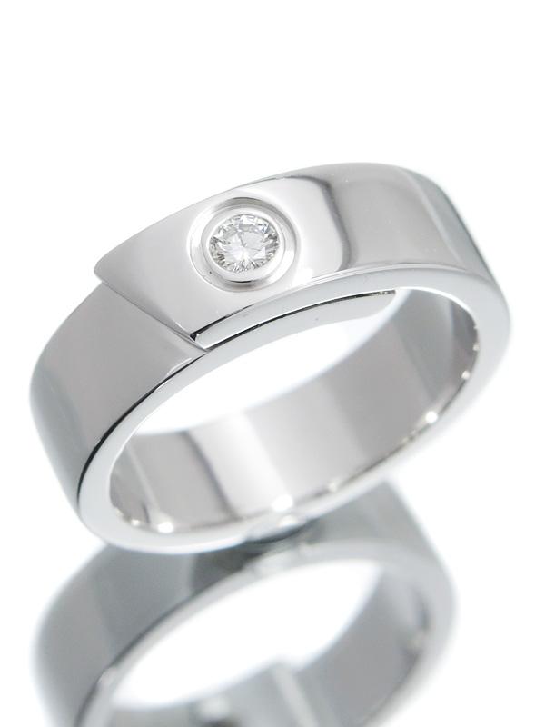 【Cartier】【仕上済】カルティエ『アニバーサリー リング 1Pダイヤモンド』13号 1週間保証【中古】b01j/h22SA
