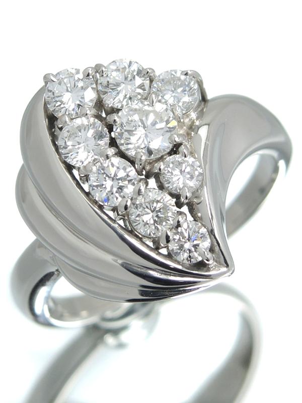 【仕上済】セレクトジュエリー『PT900リング ダイヤモンド1.04ct』14号 1週間保証【中古】b01j/h02SA
