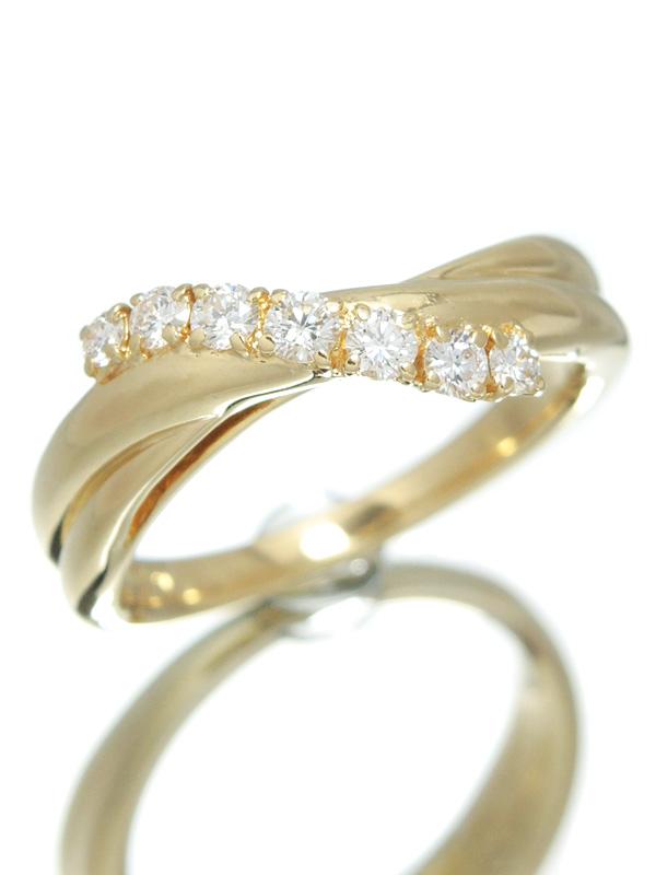 【POLA】【仕上済】ポーラ『K18YGリング ダイヤモンド0.29ct』15号 1週間保証【中古】b06j/h18SA