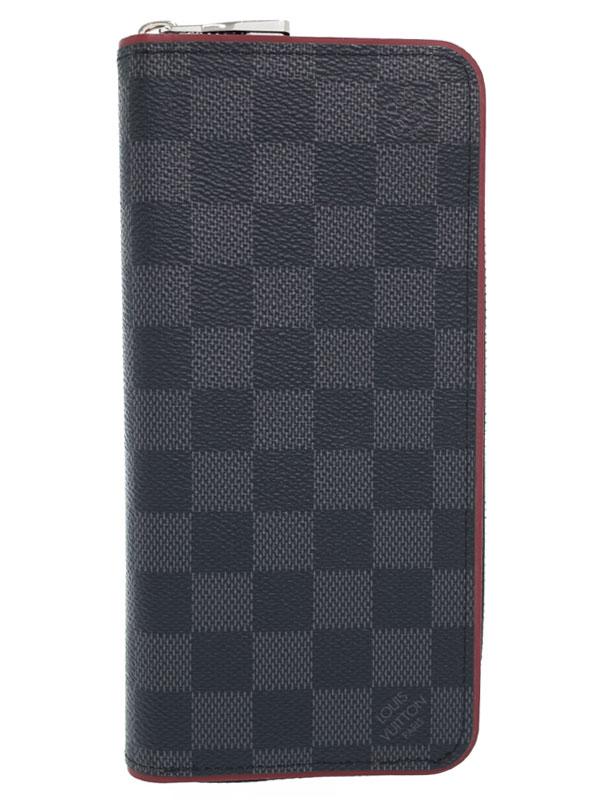 【LOUIS VUITTON】ルイヴィトン『ダミエ グラフィット ジッピーウォレット ヴェルティカル』N63304 メンズ ラウンドファスナー長財布 1週間保証【中古】b05b/h11AB