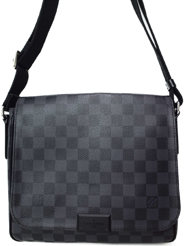 【LOUIS VUITTON】ルイヴィトン『ダミエ グラフィット ディストリクトPM』N41260 メンズ ショルダーバッグ 1週間保証【中古】b03b/h12A