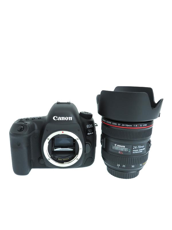 キヤノン『EOS 5D Mark IV EF24-70L IS USM レンズキット』3.2インチ 3040万画素 デジタル一眼レフカメラ 1週間保証【中古】b03e/h12A
