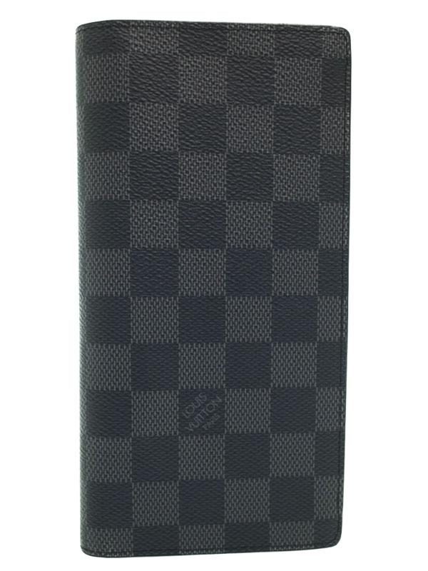 【LOUIS VUITTON】ルイヴィトン『ダミエ グラフィット ポルトフォイユ ブラザ』N62665 メンズ 二つ折り長財布 1週間保証【中古】b03b/h16A