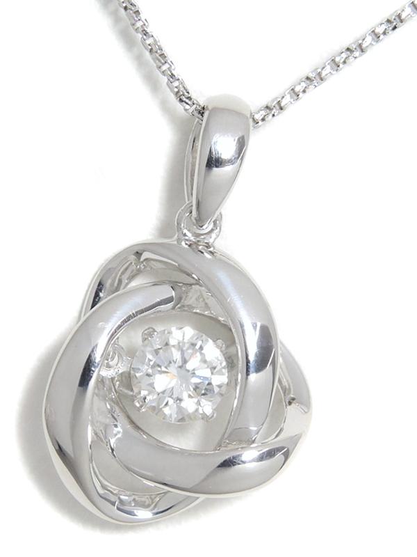 【ソーティング】セレクトジュエリー『K18WGネックレス ダイヤモンド0.337ct/E/VS-2/GOOD』1週間保証【中古】b06j/h18A