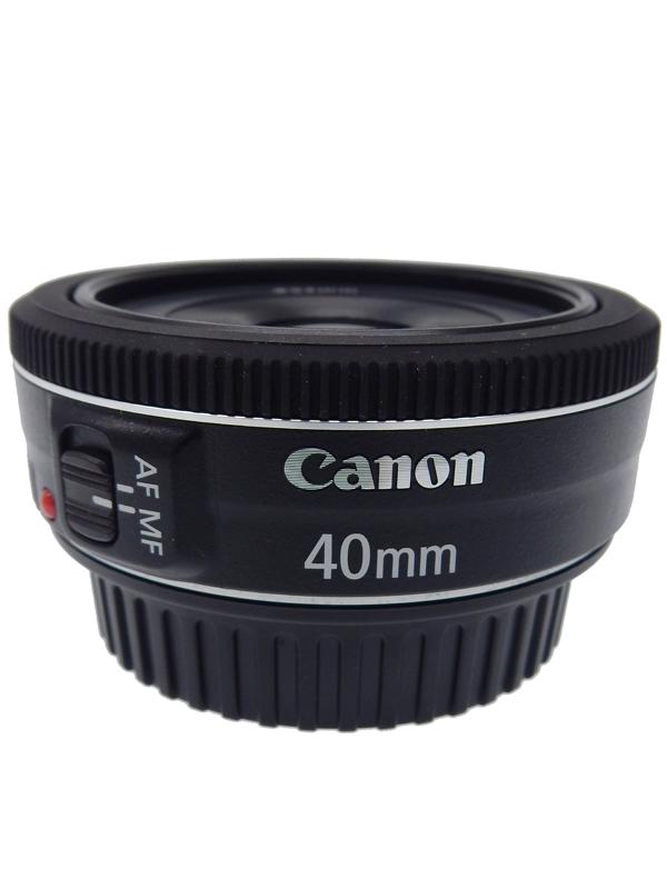 【Canon】キヤノン『EF40mm F2.8 STM』EF4028STM 単焦点 パンケーキ 一眼レフカメラ用 レンズ 1週間保証【中古】b06e/h17AB