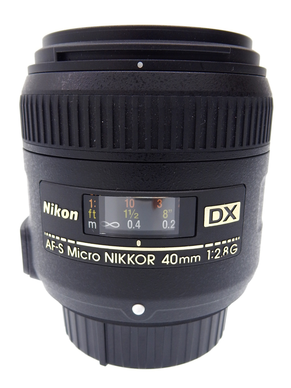 【Nikon】【Fマウント】ニコン『AF-S DX Micro NIKKOR 40mm f/2.8G』AFSDXMC40/2.8G 2011年発売 60mm相当 デジタル一眼レフカメラ用レンズ 1週間保証【中古】b03e/h20AB