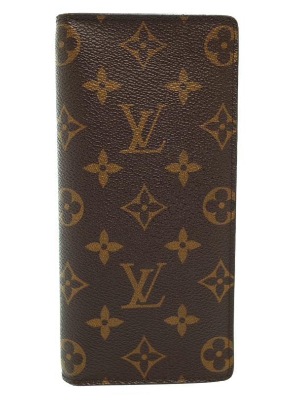 【LOUIS VUITTON】ルイヴィトン『モノグラム ポルトフォイユ ブラザ』M66540 メンズ 二つ折り長財布 1週間保証【中古】b01b/h02AB