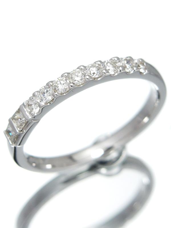 【仕上済】セレクトジュエリー『K18WGリング 10Pダイヤモンド0.44ct』16号 1週間保証【中古】b01j/h22SA