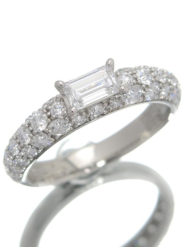 【Gimel】【仕上済】【パヴェダイヤ】ギメル『PT950リング ダイヤモンド0.316ct 0.800ct』8号 1週間保証【中古】b01j/h08SA