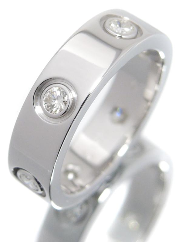 【Cartier】【メーカー仕上済】カルティエ『ラブリング フルダイヤモンド』11号 1週間保証【中古】b05j/h10A
