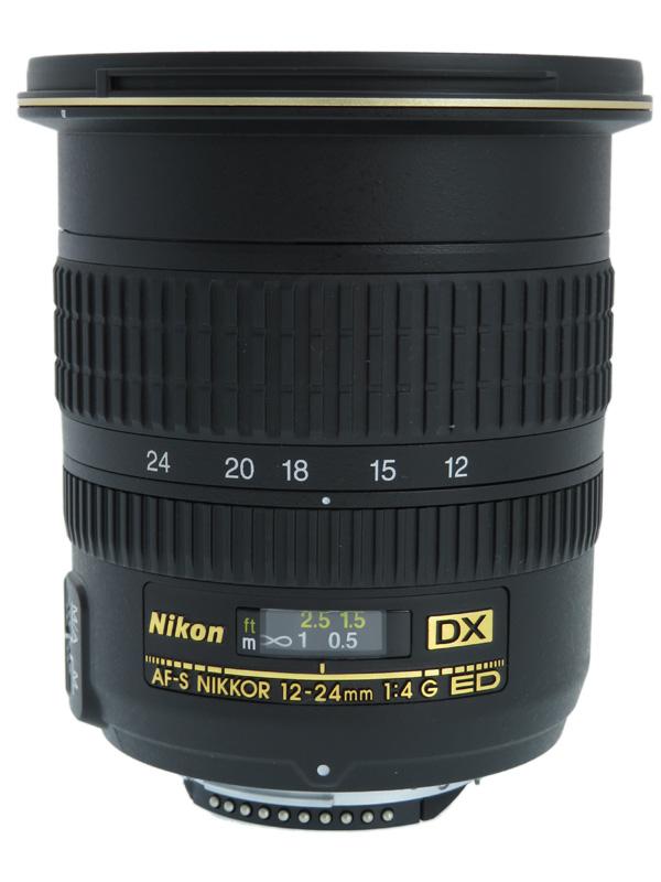 【Nikon】ニコン『AF-S DX Zoom-Nikkor 12-24mm f/4G IF-ED』18-36mm相当 デジタル一眼レフカメラ用レンズ 1週間保証【中古】b03e/h11AB