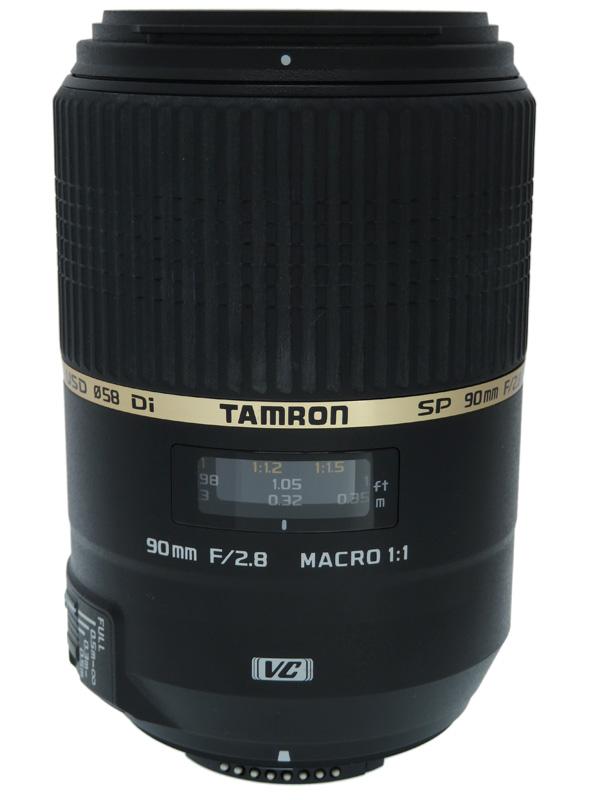 【TAMRON】タムロン『SP 90mm F/2.8 Di MACRO 1:1 VC USD』F004N ニコン用 デジタル一眼レフカメラ用レンズ 1週間保証【中古】b03e/h16B
