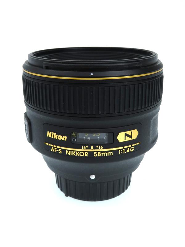 【Nikon】ニコン『AF-S NIKKOR 58mm f/1.4G』AFS5814G FXフォーマット デジタル一眼レフカメラ用レンズ 1週間保証【中古】b06e/h17AB