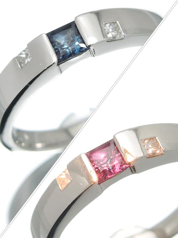 【ソーティング】セレクトジュエリー『PT900リング アレキサンドライト0.281ct ダイヤモンド0.082ct』13号 1週間保証【中古】b03j/h20A