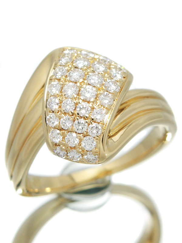 【POLA】【鑑別書】【仕上済】ポーラ『K18YGリング ダイヤモンド0.51ct』13号 1週間保証【中古】b01j/h02SA