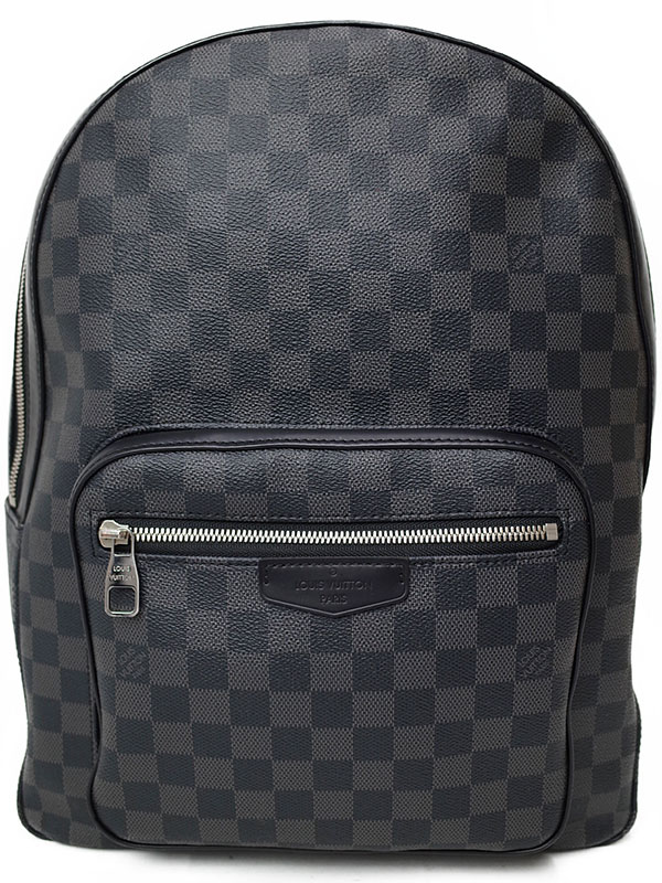 【LOUIS VUITTON】【リュックサック】ルイヴィトン『ダミエ グラフィット ジョッシュ』N41473 メンズ バックパック 1週間保証【中古】b02b/h21AB