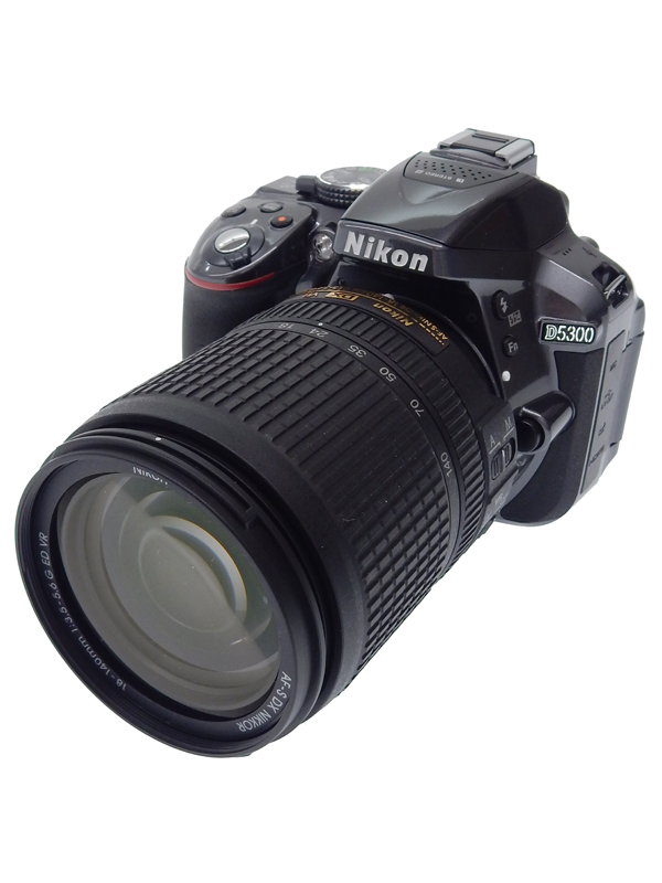 【Nikon】ニコン『D5300 18-140VR レンズキット』D5300LK18-140VRGY グレー 2014年2月発売 2416万画素 SDXC Wi-Fi デジタル一眼レフカメラ 1週間保証【中古】b06e/h18B