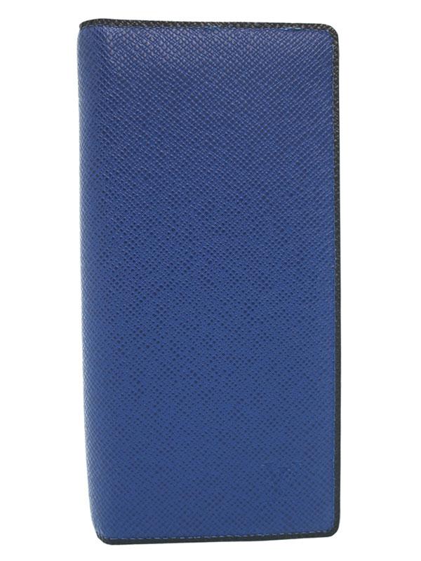 【LOUIS VUITTON】ルイヴィトン『タイガ ポルトフォイユ ブラザ』M30559 メンズ 二つ折り長財布 1週間保証【中古】b06b/h18A