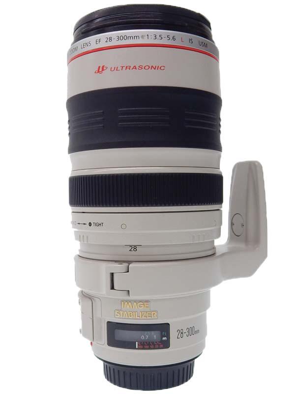【Canon】キヤノン『EF28-300mm F3.5-5.6L IS USM』EF28-300LIS ズーム比約11倍 高倍率ズームレンズ 防塵 防滴 カメラ用交換レンズ 1週間保証【中古】b02e/h22B