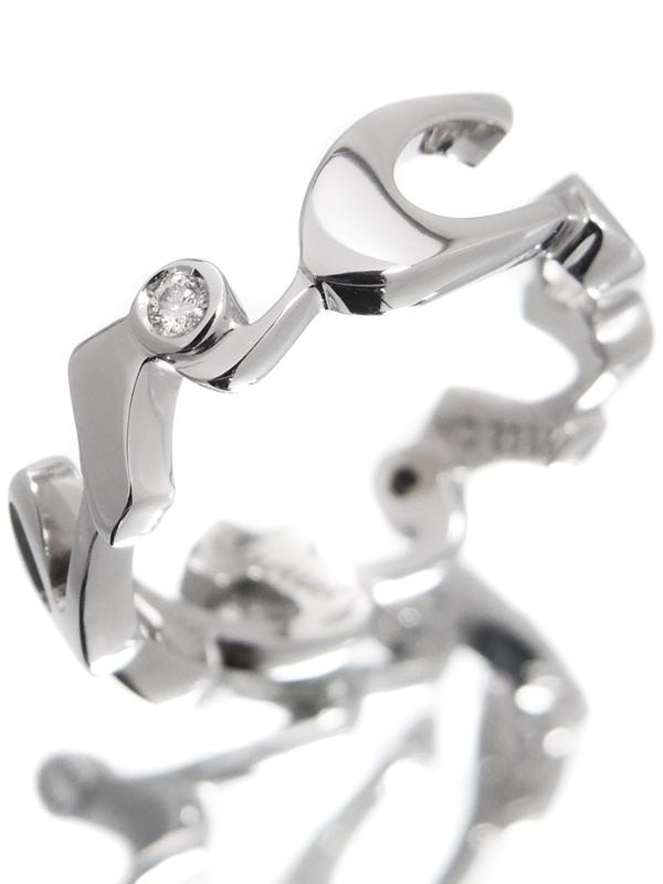 【Cartier】【仕上済】【2004年クリスマス限定】カルティエ『シグネチャー リング 3Pダイヤモンド』9号 1週間保証【中古】b02j/h21SA
