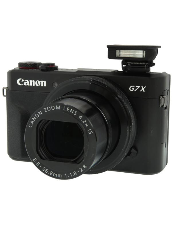 【Canon】キヤノン『PowerShot G7 X Mark II』PSG7XMARKII ブラック 2010万画素 光学4.2倍 広角24mm フルHD Wi-Fi コンパクトデジタルカメラ【中古】b02e/h09AB