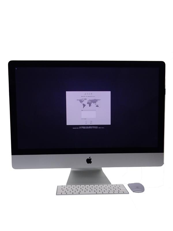 【Apple】アップル『iMac Retina 5Kディスプレイモデル 3300/27 EL Capitan』MK482J/A Late 2015 デスクトップパソコン 1週間保証【中古】b03e/h12AB