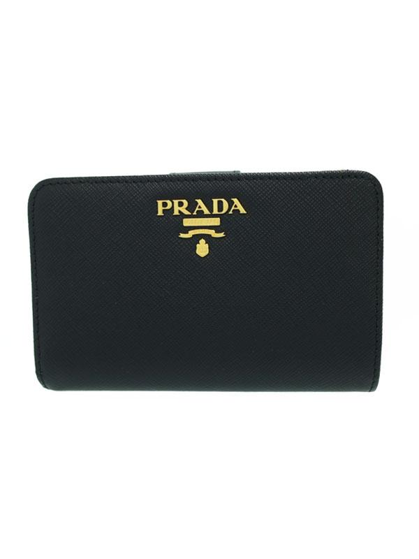 【PRADA】プラダ『L字ファスナー短財布』1ML225 レディース 1週間保証【中古】b05b/h10A
