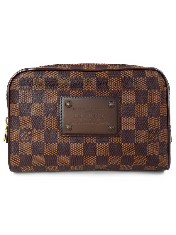 【LOUIS VUITTON】ルイヴィトン『ダミエ バム バッグ ブルックリン』N41101 メンズ ボディバッグ 1週間保証【中古】b01b/h22A
