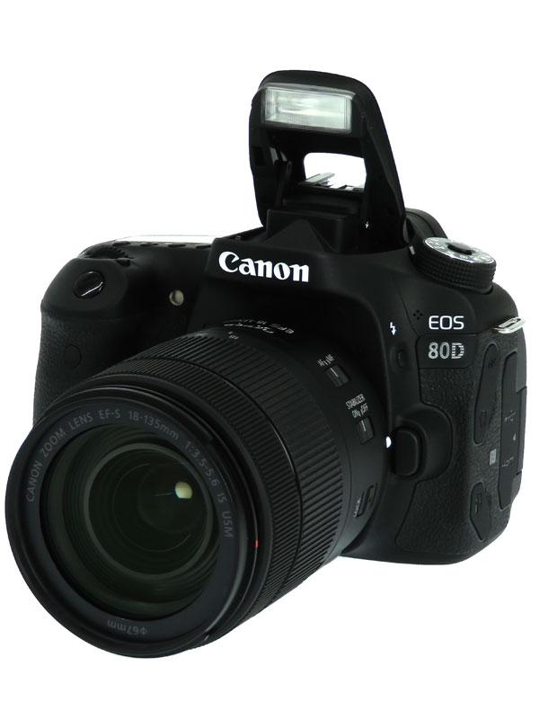 【Canon】キヤノン『EOS 80D EF-S18-135 IS USMレンズキット』EOS80D18135ISUSMLK 2420万画素 SDXC デジタル一眼レフカメラ 1週間保証【中古】b06e/h10B