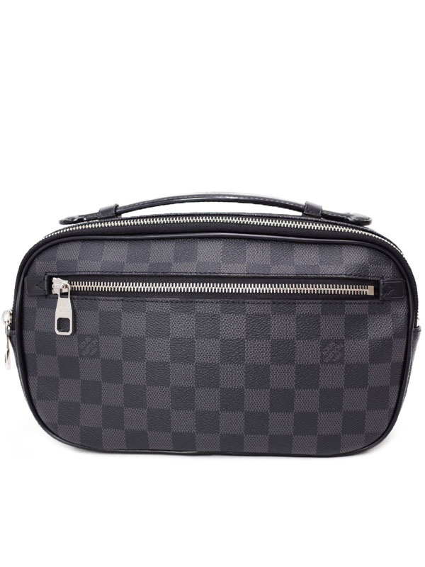 【LOUIS VUITTON】ルイヴィトン『ダミエ グラフィット アンブレール』N41289 メンズ ボディバッグ 1週間保証【中古】b06b/h17A