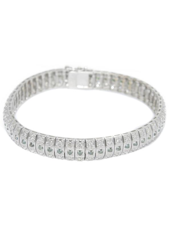 セレクトジュエリー『K18WGブレスレット ダイヤモンド1.01ct 2.00ct』1週間保証【中古】b06j/h17A