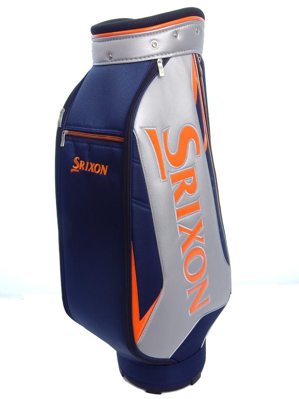 【SRIXON】スリクソン『キャディバッグ』GGC-S114L シルバー×ネイビー メンズ 9.0型 2.9kg ゴルフバッグ 1週間保証【中古】b06e/h18A