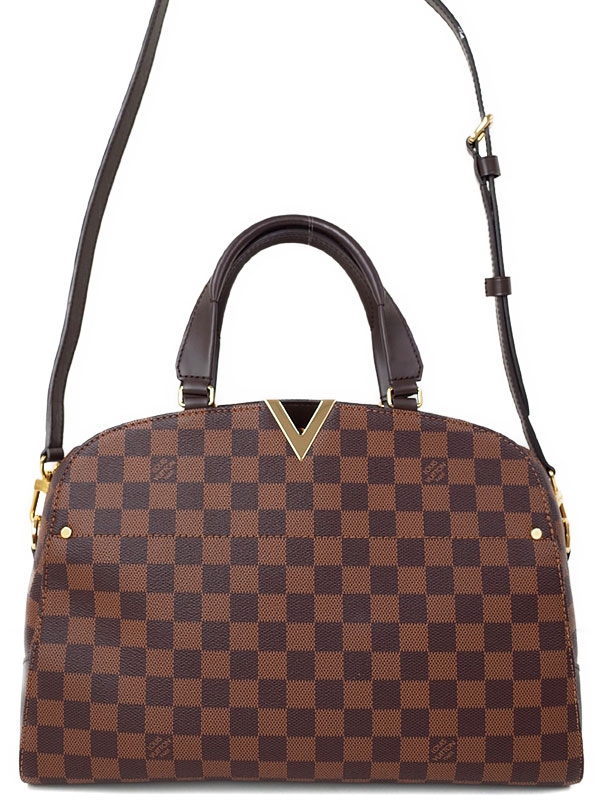 【LOUIS VUITTON】ルイヴィトン『ダミエ ケンジントン ボーリング』N41505 レディース 2WAYバッグ 1週間保証【中古】b03b/h20A