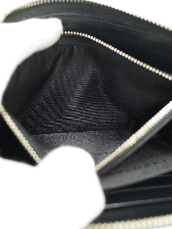 ba42d74f3493 【BVLGARI】ブルガリ『ウィークエンド 1週間保証【中古】b02b/h03SA メンズ ラウンドファスナー長財布』32587-メンズ財布