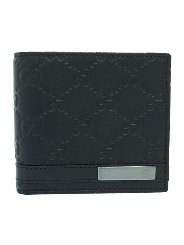 【GUCCI】グッチ『メタルバー コインウォレット』233102 メンズ 二つ折り短財布 1週間保証【中古】b05b/h11A