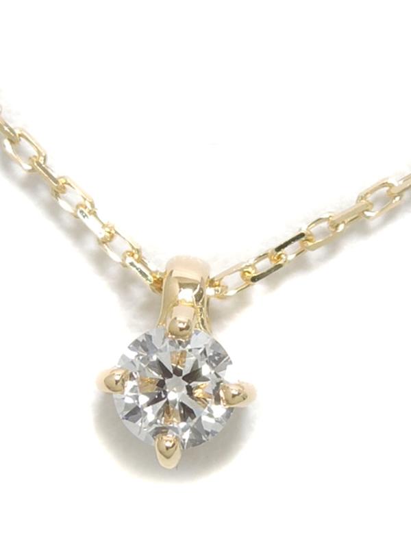 【ete】エテ『K18YGネックレス 1Pダイヤモンド0.06ct ブライト』1週間保証【中古】b01j/h08A