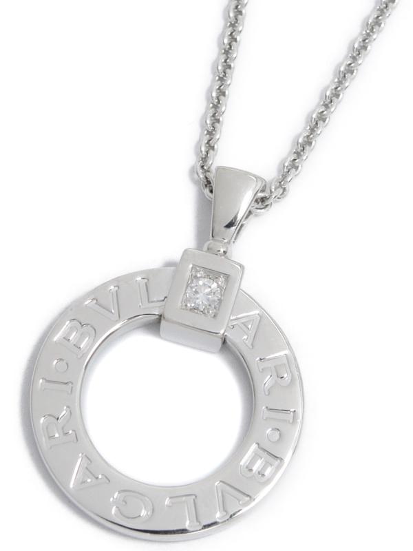 【BVLGARI】ブルガリ『ブルガリブルガリ ダイヤ ペンダント ネックレス』1週間保証【中古】b02j/h07A
