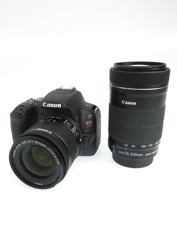 【Canon】キヤノン『EOS Kiss X9 ダブルズームキット』ブラック 2420万画素 SDXC APS-C デジタル一眼レフカメラ 1週間保証【中古】b02e/h19AB