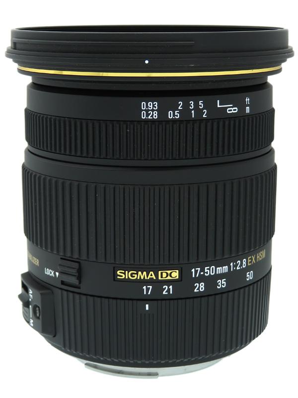 【SIGMA】シグマ『17-50mm F2.8 EX DC OS HSM』キヤノンマウント APS-C デジタル一眼レフカメラ用レンズ 1週間保証【中古】b02e/h02AB