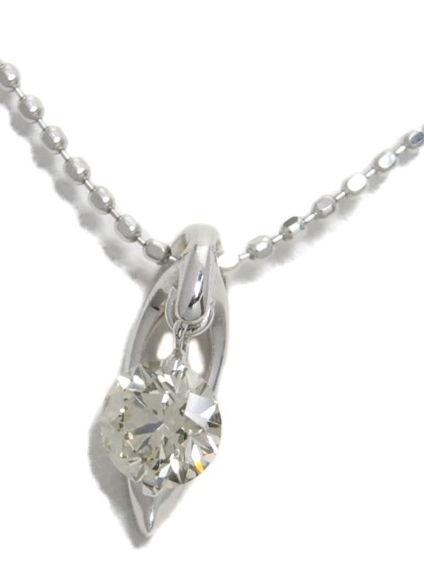セレクトジュエリー『K18WGネックレス 1Pダイヤモンド0.287ct』1週間保証【中古】b02j/h07A