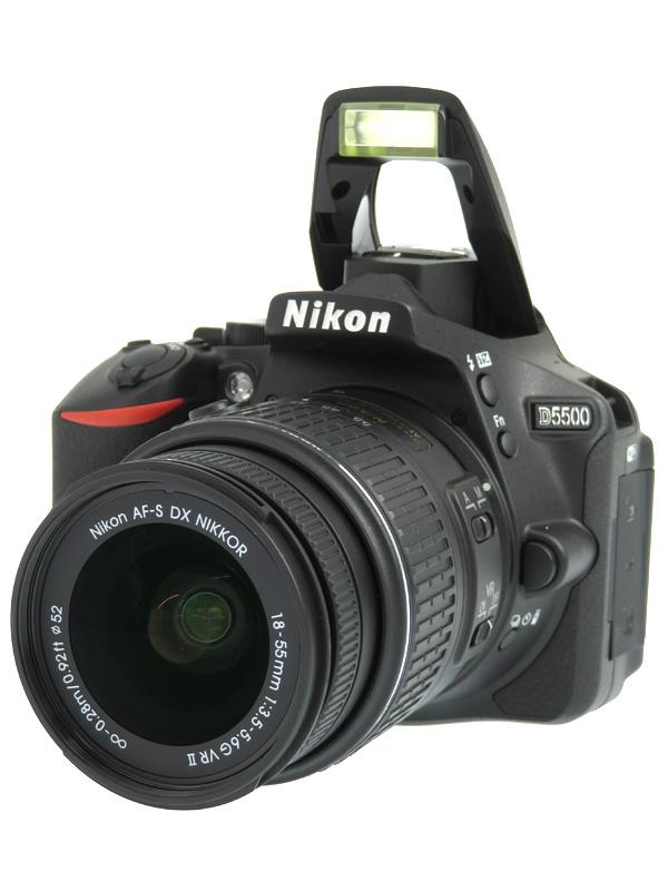 【Nikon】ニコン『D5500 18-55 VR II レンズキット』ブラック 2416万画素 DXフォーマット カメラバッグ付属 デジタル一眼レフカメラ 1週間保証【中古】b05e/h10AB